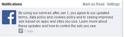 Facebook notification 26 noiembrie 2014