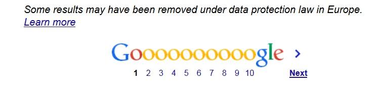 Google data protection warning